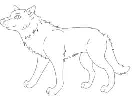 Free Wolf Lineart by 490skip