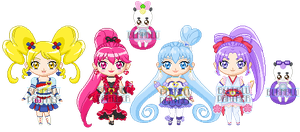 ChibiP: Happiness Charge Pretty Cure Form Change by blknblupanther