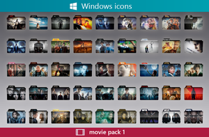 Folder Icons Movie Pack 1 by RaFlAmeS