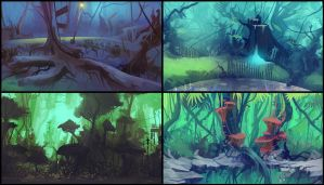Animation BG Concepts by ScottPellico