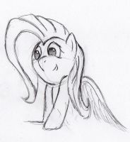 Quick Fluttershy sketch 5 by otto720