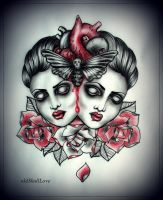 HEART tattoo design by MWeiss-Art