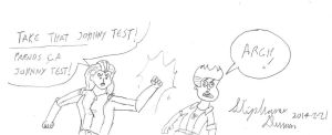 Sam vs Johnny Test by stephdumas