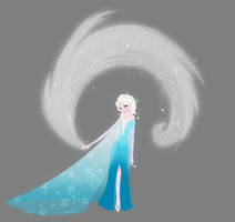 Queen Elsa by Makarii