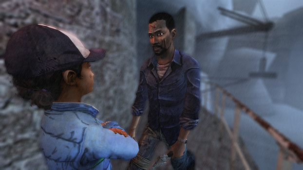 I was doing stuff clem , things... by OfficialLee4life