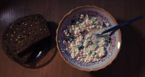 Cottage cheese with chive, radish and brown bread by Yami19