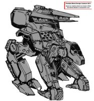 Hound Mech with Turret by PCRaven
