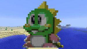 Bub (Puzzle Bobble 2) in Minecraft by superslinger2007