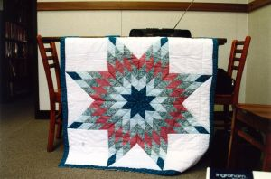Teal Lone Star Wall Quilt by MN-Vixen
