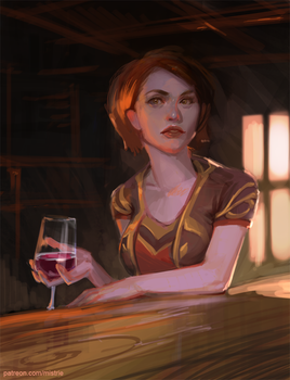 WoW: A glass of wine by AppleSin