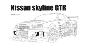 Nissan skyline GTR Sparco by HD-Pictures