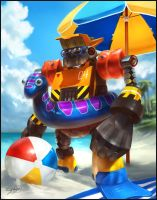 Mighty No 4 Beach Bum by Emortal982