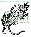 Jungle Tiger Tattoo by WildSpiritWolf