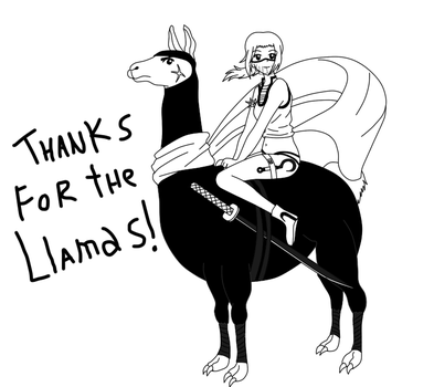 Thanks for the llamas!! by fotanimaciones