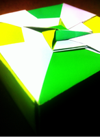 Yellow/Green Origami Box3 by H3LLoK66aren99