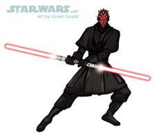 DRAW DARTH MAUL by grantgoboom