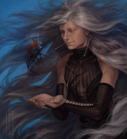 Pretty Pretty Planeswalker (Sea of Hair) by LALordIllustration