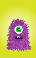 Fuzzy purple thing by Asmodeus01