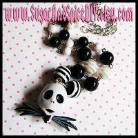 Jack Skellington Necklace I by SugarAndSpiceDIY