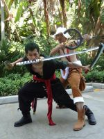 Time Skip Zoro and Usopp. by Synphol