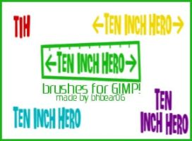 Ten Inch Hero Brushes by BhBear06