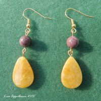 LSU Earrings No. 1 by Cillana