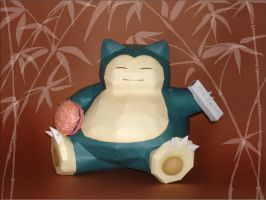Giant Snorlax Papercraft by Skele-kitty