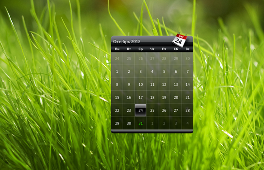 HTC old calendar for XWidget by Snoranges