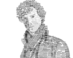 Sherlock Text Portrait by icefrogprincess3