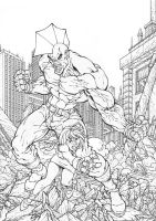 savage dragon inked by pant