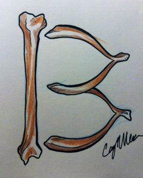 Friday the 13th Wishbone Tattoo Design by NarcissusTattoos