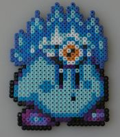 Ice Kirby Bead Sprite by Nicolel12