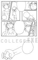 College EXE page 4 lineart by jojostory