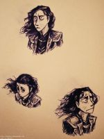 Loki w hair blowing in the wind IDK by Tavoriel