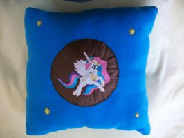 Princess Celestia Handmade Custom Plush Pillow by grandmoonma