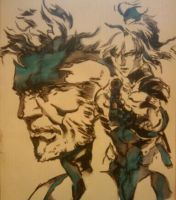 Snake And Raiden by Thestickibear