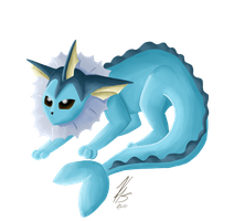 Pokemon - Vaporeon by KrispyCake