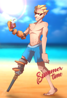 Junkrat's Summer time by Sushiister
