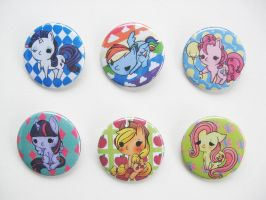 MLP FIM Buttons by OddCurio
