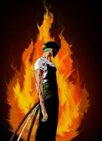 Zoro colored by marvelmania