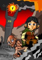 GOLLUM AND FRODO by themico