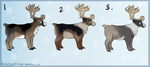 Reindeer adopts - one left - by PointAdoptsforyou