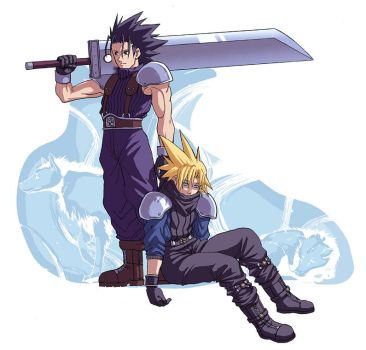 FFVIILO: Zack and Cloud by Risachantag