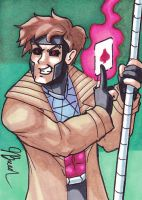 Sketch Card #54 - Gambit by destinyhelix
