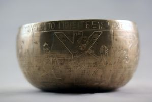 Engraved Lord's Supper kettle side 3 by Dewfooter