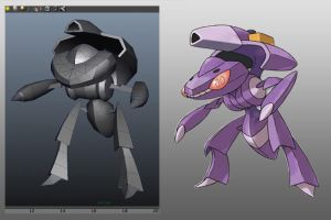 Genesect WIP by MightyDargor