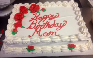 Red Roses Sheet cake by Crosseyed-Cupcake