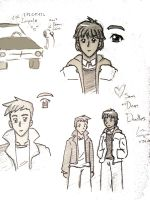 Sam and Dean Doodles by LauraDoodles