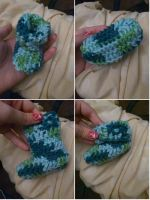 Funky baby booties by BiggieShorty