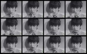 Chomping George Harrison by superfluidmessdreams